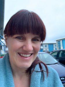 Karen Lawrence after ice bath